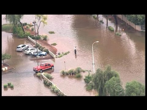 Parts of Arizona underwater after record rainfall, flooding