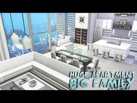 HUGE LUXURY APARTMENT FOR A BIG FAMILY 🤍 | The Sims 4: Apartment Renovation Speed Build