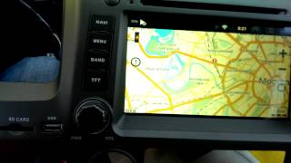 2DIN ГУ Android 2.3.4 для Honda Civic 4D (до 2011) Видео 1 из 2