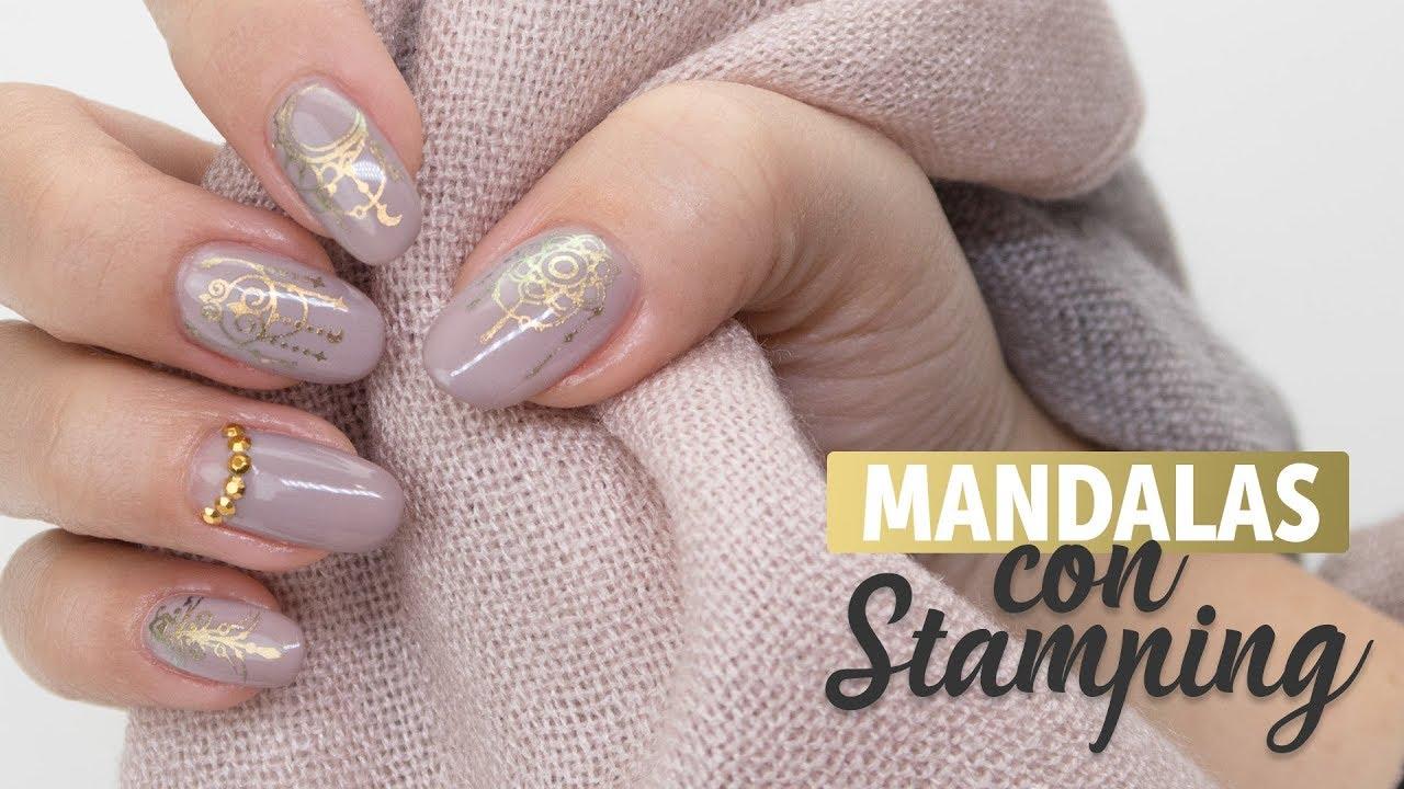 Diseño Mandalas Con Esmalte Permanente Manicura24 Youtube