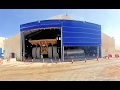 Large Tent PVC Fabric Door - Mining Hangar Door