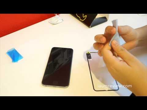 [HD] รีวิวกระจกนิรภัย Gorilla ของ iPhone 6 แบบเต็มจอ (ขอบสี)
