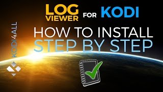How to install log viewer for Kodi step by step tutorial