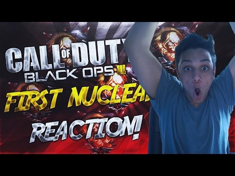 """Black Ops 3: """"MY FIRST EVER NUCLEAR REACTION!"""" (HILARIOUS NUCLEAR REACTION) (GONE CRAZY)"""