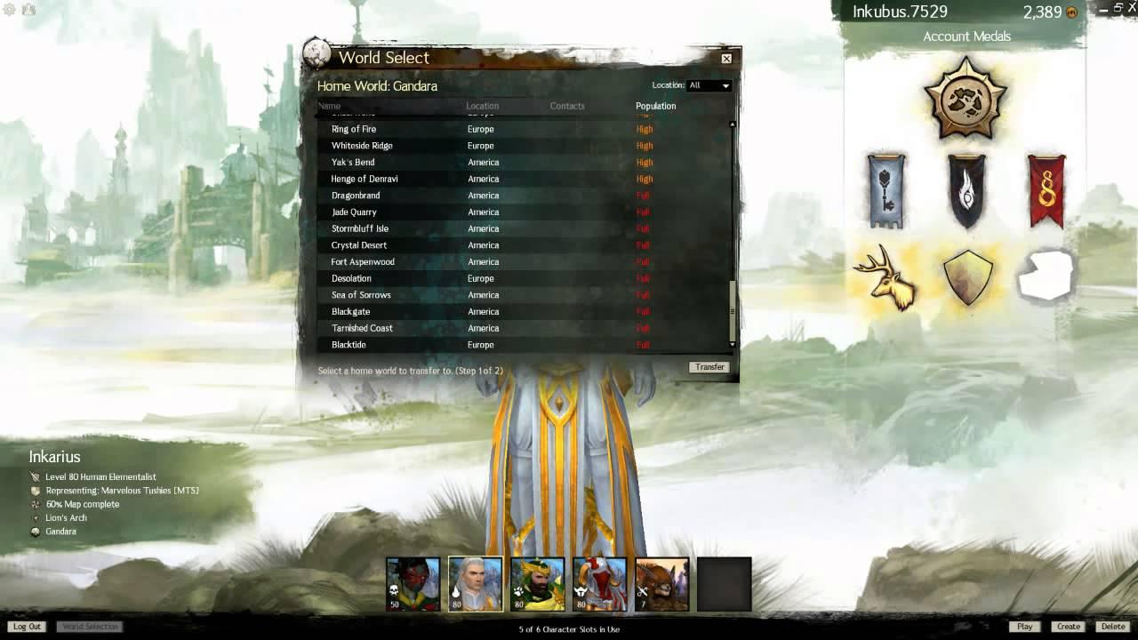 Guild Wars 2 - servers/players population 03-12-2012