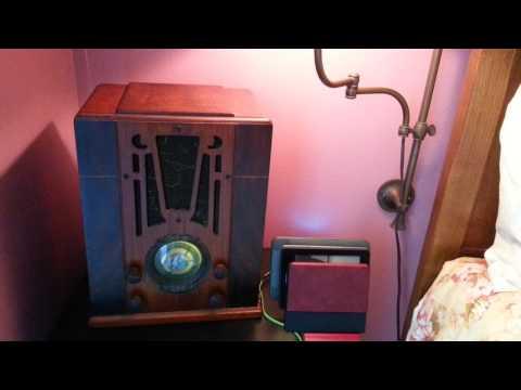1935 Silvertone Radio model 1904, Amazon Echo Dot