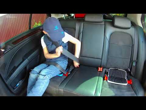 Суперкомпактный автомобильный бустер для детей Kidbooster альтернатива автокрес