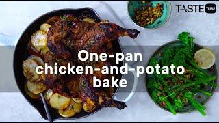 One pan chicken and potato bak…