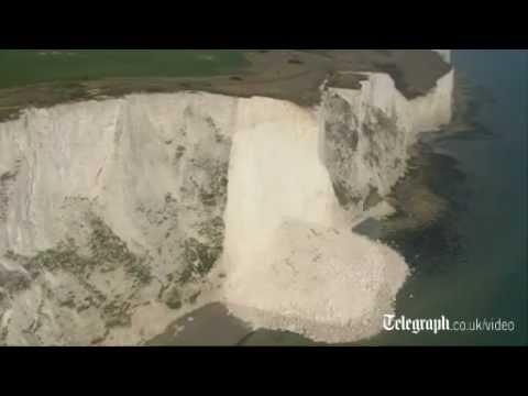 White cliffs of Dover fall into the sea