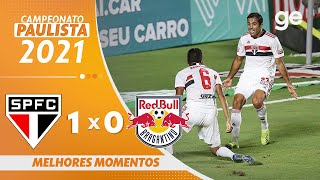 SÃO PAULO 1 X 0 브라 간 티노 | 최고의 순간 | 7 차 파울리스타 2021 | ge.globo