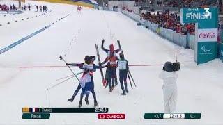 Jeux Paralympiques - Ski de Fond Relais 4 x 2,5 km - Une équipe de France en or à PyeongChang