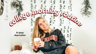 COLLEGE MORNING ROUTINE 2018 (vlog style)