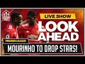 Leicester City vs Man United LIVE Preview | MOURINHO To DROP BIG Stars!