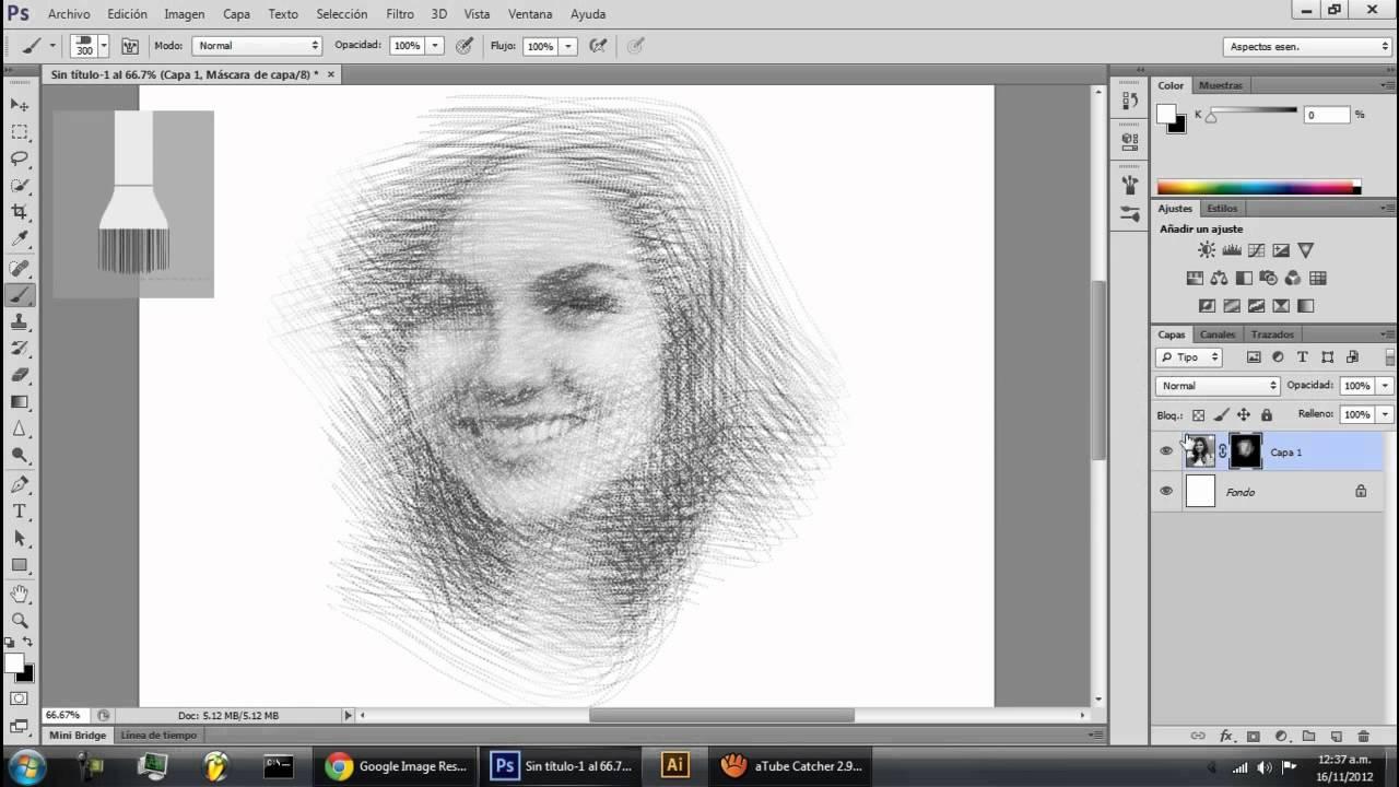 Photoshop Photo Line Art Effect : Photoshop drawing effect efecto dibujo youtube
