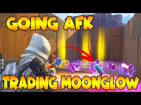 Going AFK while Trading My Moon Glow!   *NEW* Experiment   Fortnite Save The World