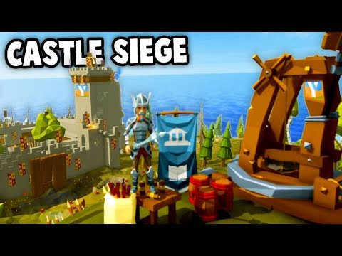 AMAZING CASTLE SIEGE!  Catapults vs Super Castle! (Ylands Multiplayer Gameplay Funny Moments)