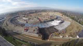 Apple Campus 2 January 2015 Update in 4k