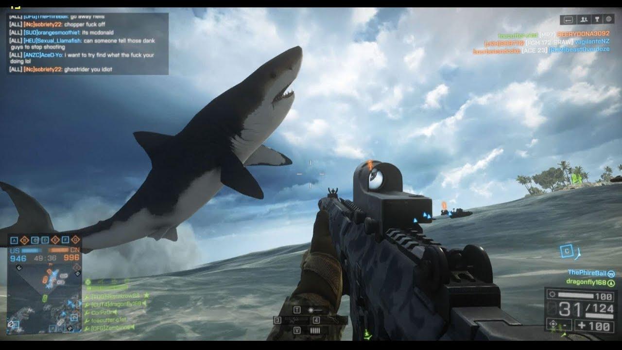 Battlefield 4 Megalodon Easter Egg FOUND (Giant shark attack) - YouTube