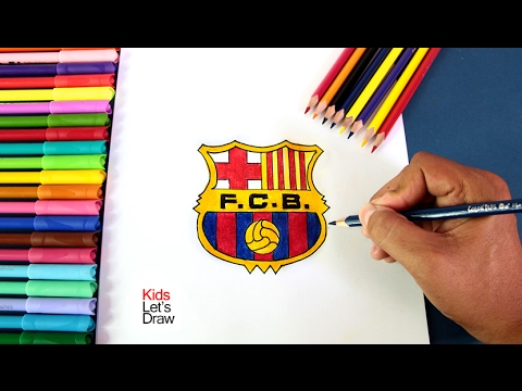 how to draw barcelona logo step by step