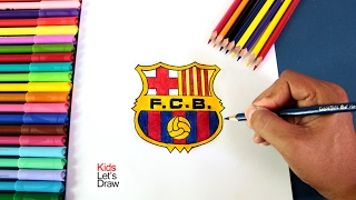 Cómo dibujar el escudo del FC Barcelona | How to Draw the FC Barcelona Logo (2002)