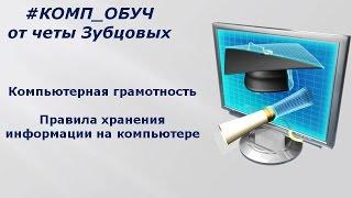 3 Компьютерная грамотность Правила хранения информации на компьютере