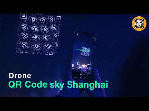 A huge QR code fly over Shanghai in the sky | shanghai QR code drone show  ✨
