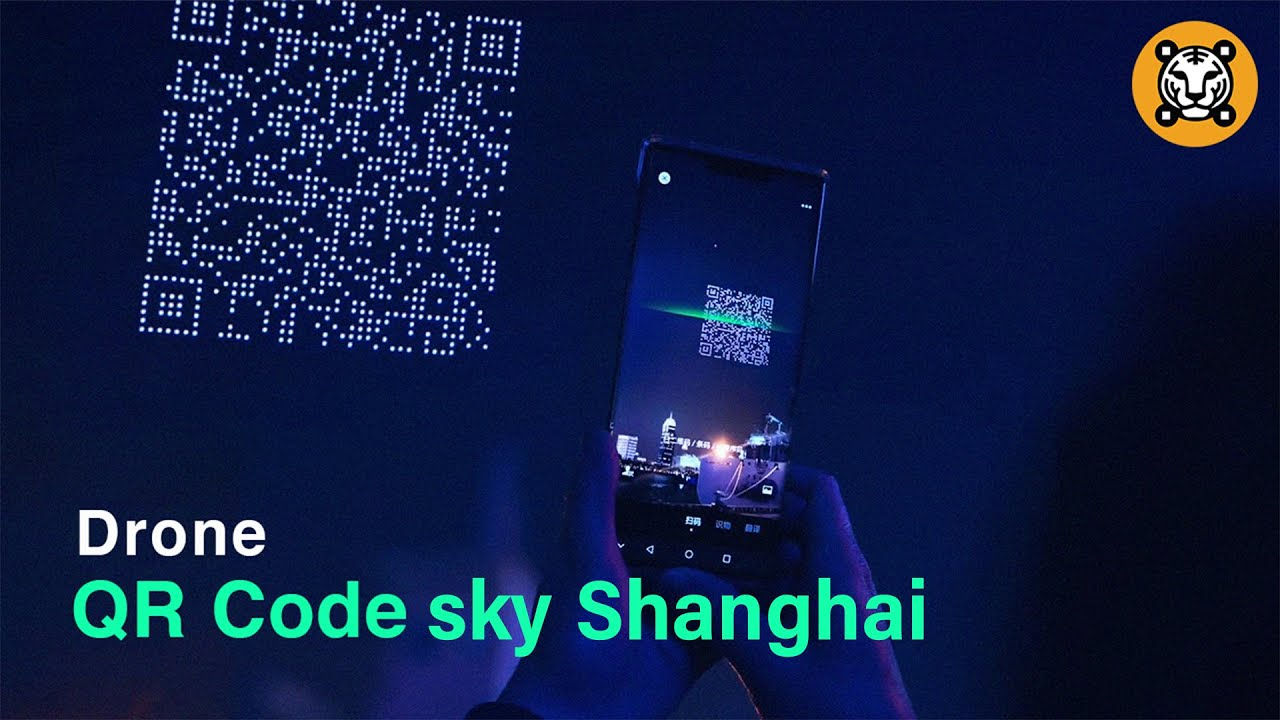 A huge QR code fly over Shanghai in the sky | shanghai QR code sky ✨