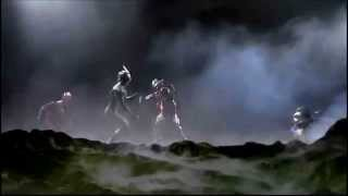 Ultraman Zero, Glen Fire and Mirror Knight vs Jean Killer