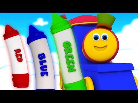 Bob Krayon Warna Lagu | Lagu Anak | Sajak Bayi | Bob Crayons Color Song | Bob The Train Indonesia