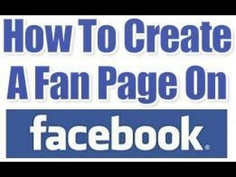how to facebook fan page create