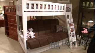New Energy Spice Collection Futon Bunk Bed - Factoryestores.com