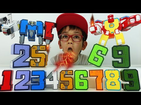 ТРАНСБОТЫ Цифры Трансформеры и Тоботы! #Трансботы боевой расчет - Распаковка игрушки трансформеры