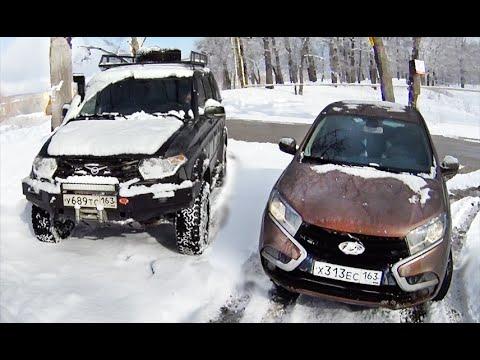 Лада Х РЕЙ и УАЗ Патриот в сугробах Тест Драйв Lada XRAY vs UAZ Patriot offroad
