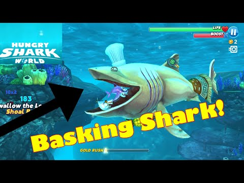 BASKING SHARK! | Hungry Shark World | + Titanic Easter Egg