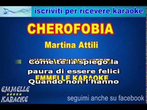 cherofobia base karaoke Martina Attili EMMELLE KARAOKE