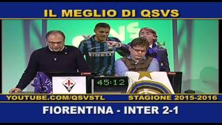 QSVS - I GOL DI FIORENTINA - INTER 2-1 TELELOMBARDIA / TOP CALCIO 24