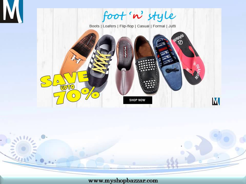 ddd98e7b48a Buy Mens Footwear Online at Best Price in india - YouTube