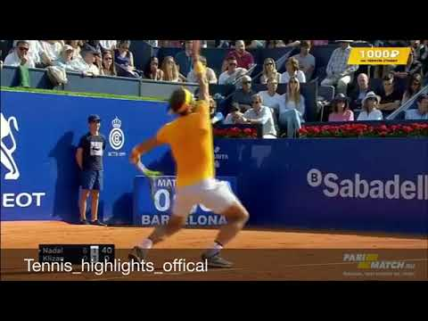 Rafael Nadal vs Martin Klizan-highlights Barcelona-(HD)