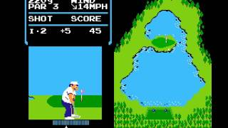 NES Game:  Golf (1984 Nintendo)