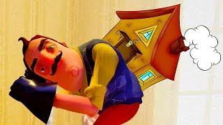 Самый СТРАШНЫЙ СОСЕД испугались мультяшного героя ПРИВЕТ СОСЕД #10 детские страшилки БЕТА 3 #КИД
