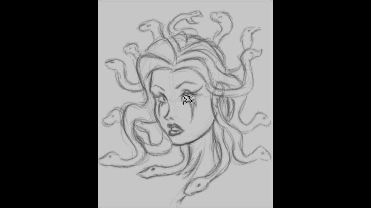 Medusa Face Sketch Youtube