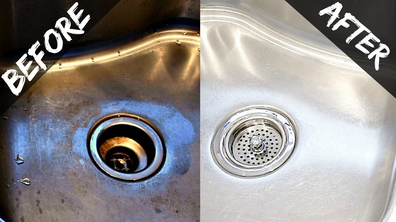kitchen sinks and faucets top mount how to clean your sink disposal naturally with baking soda vinegar easy organic youtube