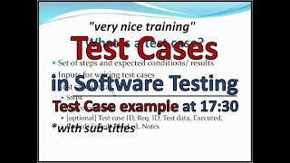 Manual Testing Training - What is Test Case - Example