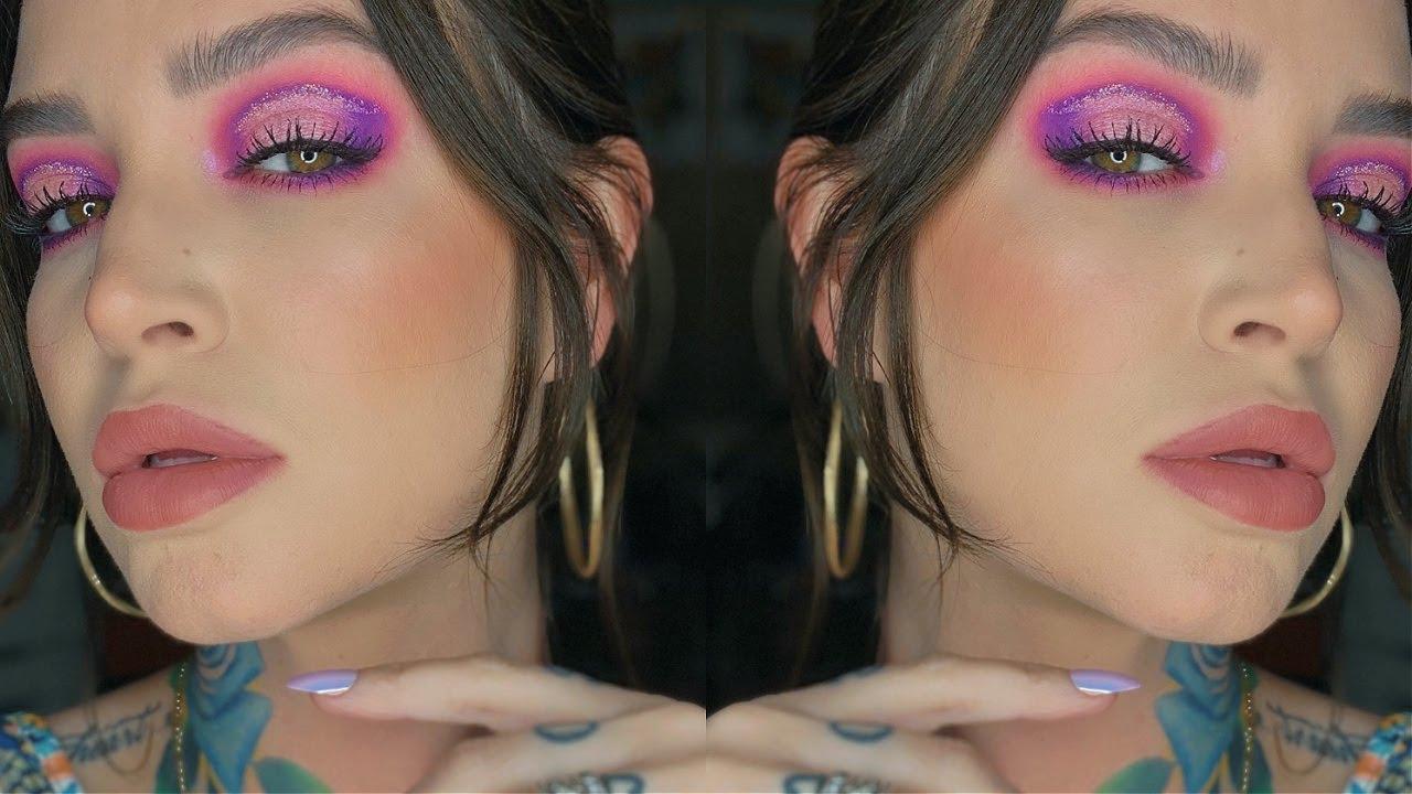 Halo Pink + Purple eyeshadow DISCO DAYDREAM ☆゚.*  | Makeup GRWM