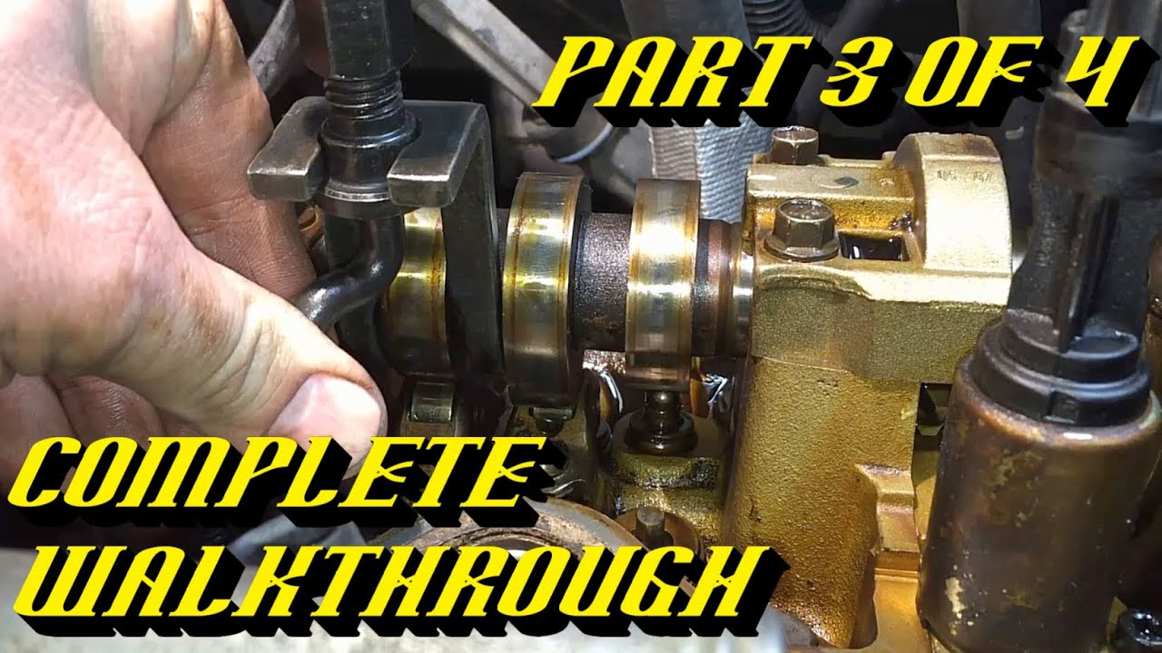 Ford 5 4l 3v Engine Timing Chain Kit Replacement Pt 3 Of 4
