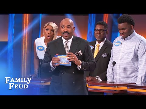 NeNe Leakes' brother FREAKS OUT the Feud!!! | Celebrity Family Feud | OUTTAKE