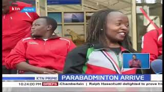 Kenya National Parabadminton Team arrive back after winning continental title