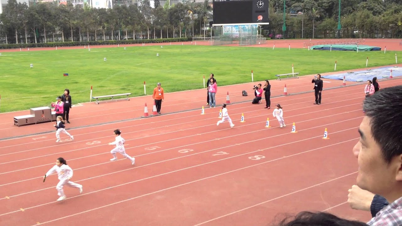 Natalie and her friend running relay races for P1 class YouTube