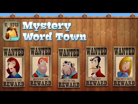 Mystery Word Town - Sight Word Spelling - Best App For Kids - iPhone/iPad/iPod Touch