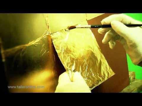 Como colocar el pan de oro-plata